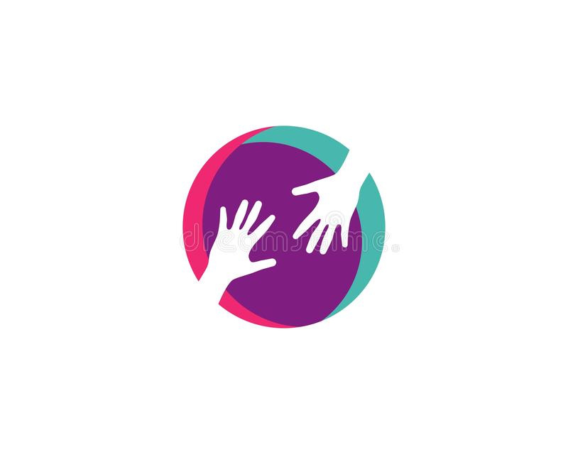 Handpflege Logo Template stock abbildung