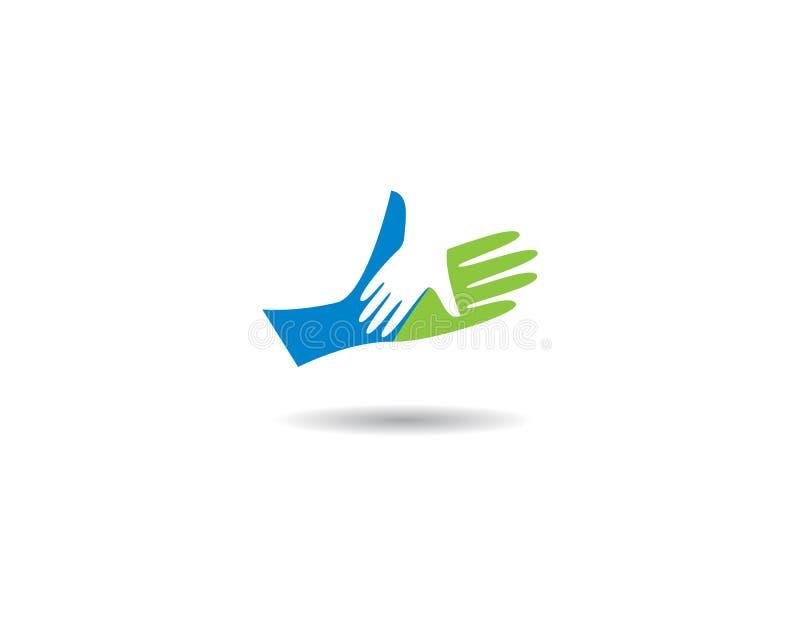 Handpflege Logo Template lizenzfreie abbildung