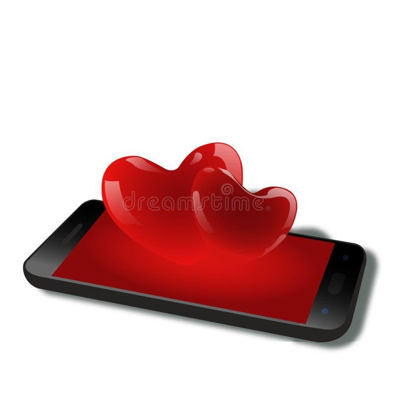 从handphone的爱 皇族释放例证