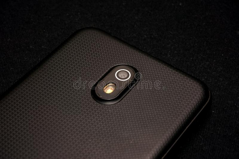 Handphone на черноте стоковое фото