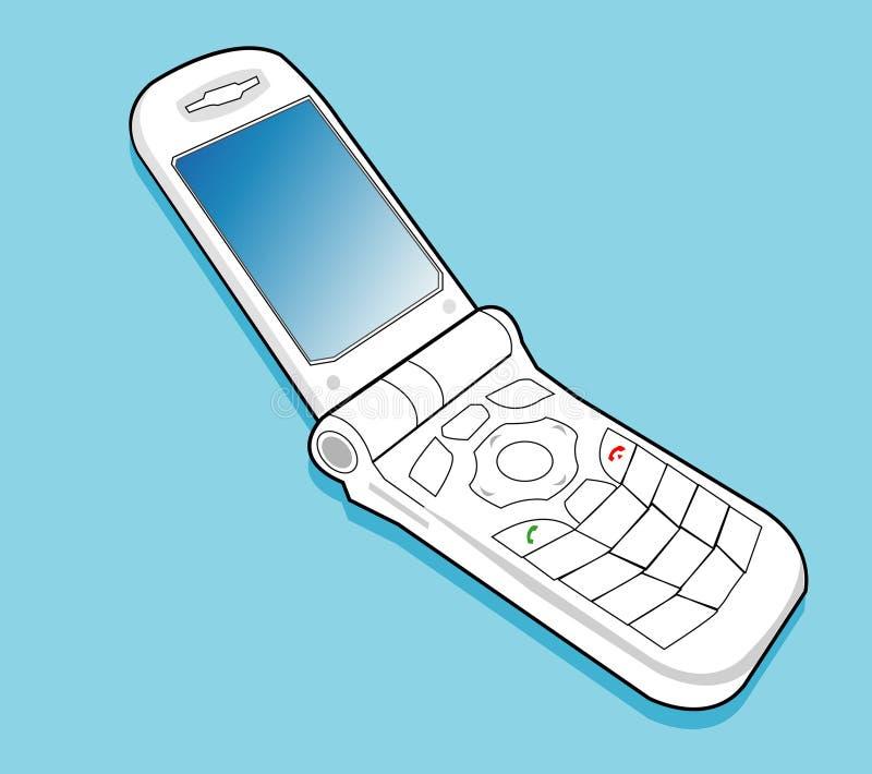 Handphone da aleta ilustração stock
