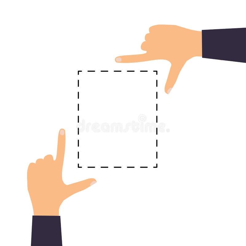 Handpictogrammen die algemeen gebruikte multi-aanrakingsgebaren voor touchscreen tabletten tonen of smartphones Vlakke ontwerp mo royalty-vrije illustratie