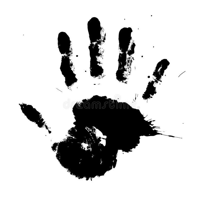 handprint墨水向量 皇族释放例证