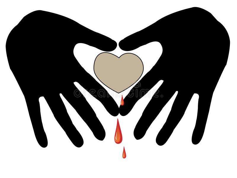 handprint καρδιά στοκ εικόνες