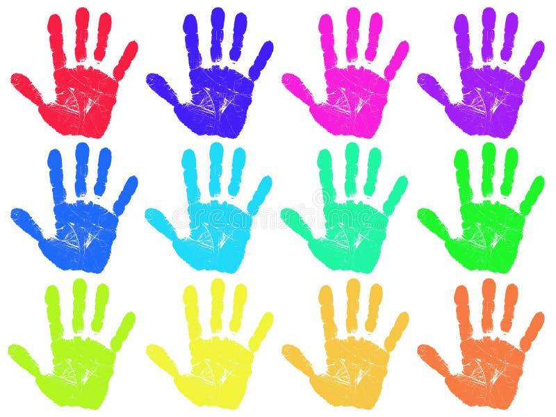 Handprint immagini stock