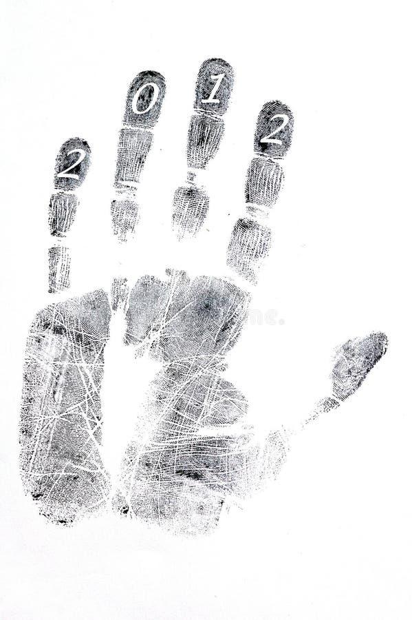 handprint royaltyfri illustrationer