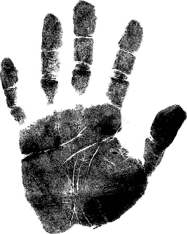 Handprint vektor illustrationer
