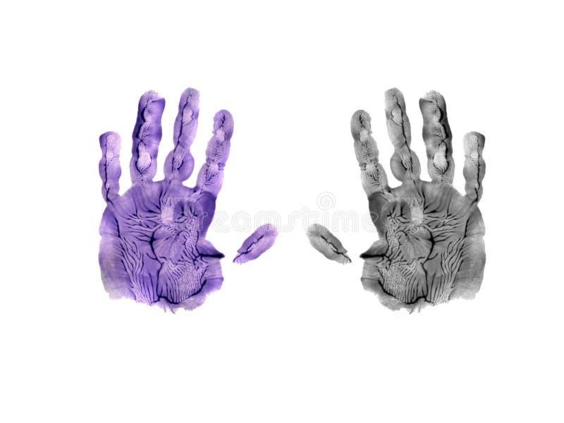 Handprint aislado de los childs foto de archivo libre de regalías