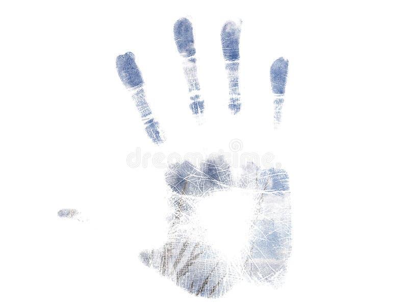 Handprint azul ilustração stock