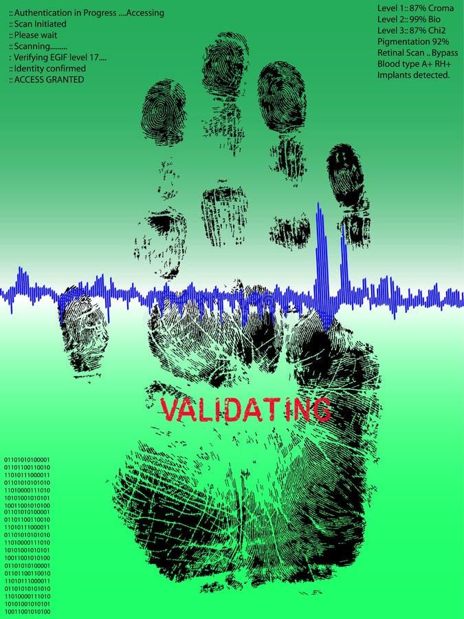 Handprint cheio ilustração royalty free