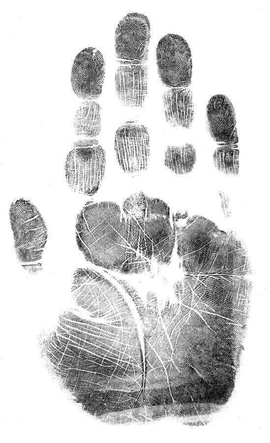 Handprint cheio - fechado ilustração royalty free