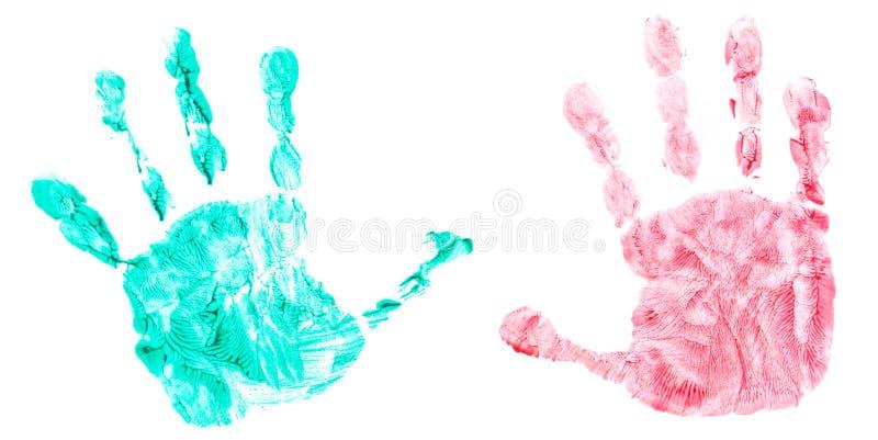 Handprint colorido del manos de los childs foto de archivo libre de regalías