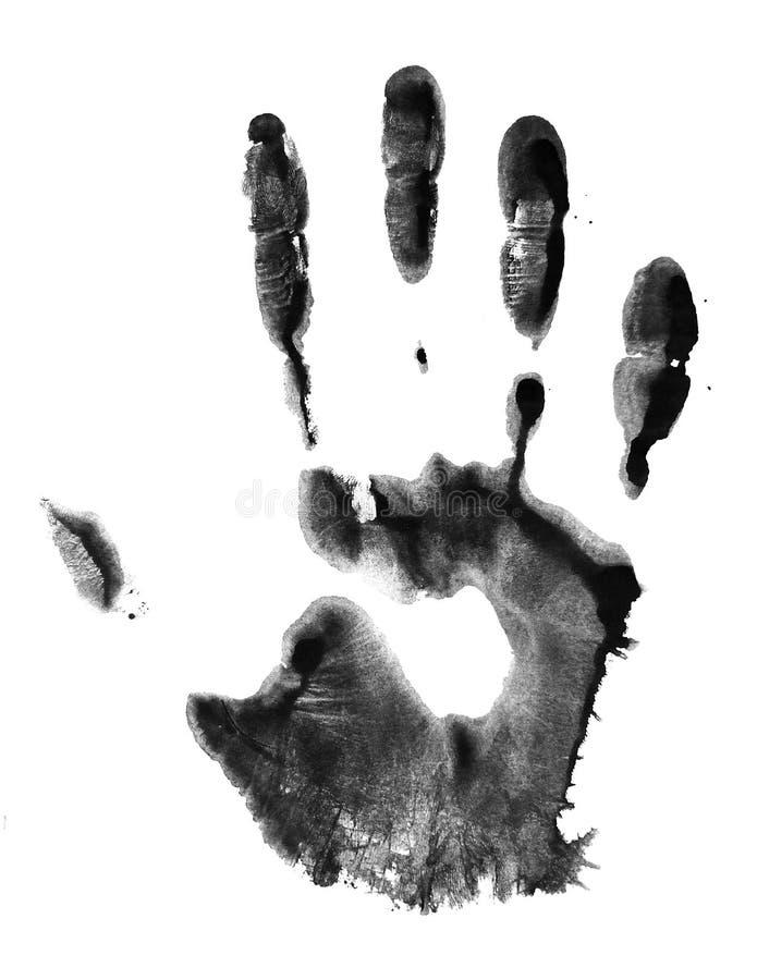 Handprint Concetto della mano dell'essere umano della pittura immagini stock