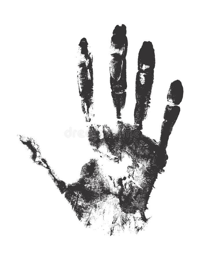 Handprint Del Vector Aislado En El Fondo Blanco Ilustración del ...