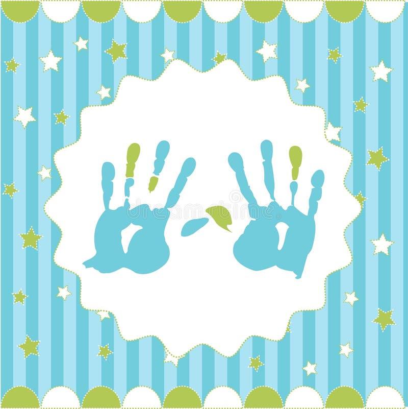 Handprint do menino ilustração royalty free