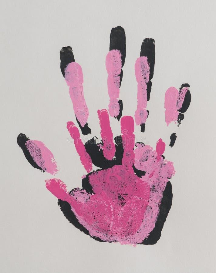 Handprint en el papel imagenes de archivo