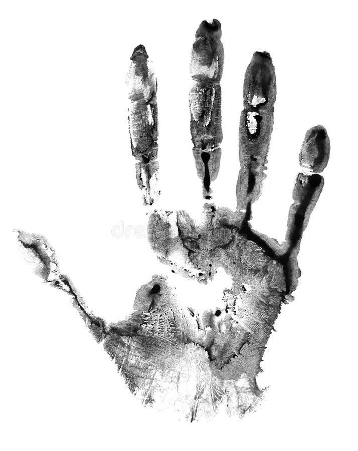 Handprint ha isolato su fondo bianco immagine stock