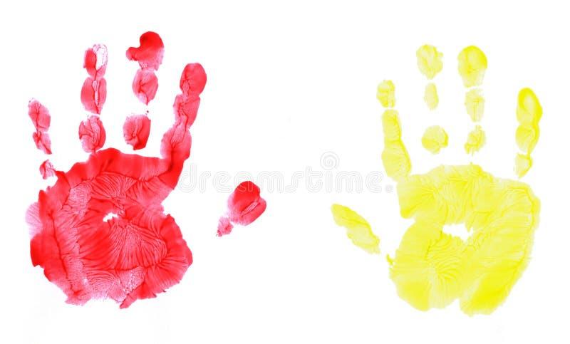 Handprint isolato dei childs fotografia stock libera da diritti