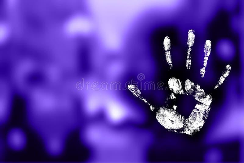 Handprint místico ilustração royalty free