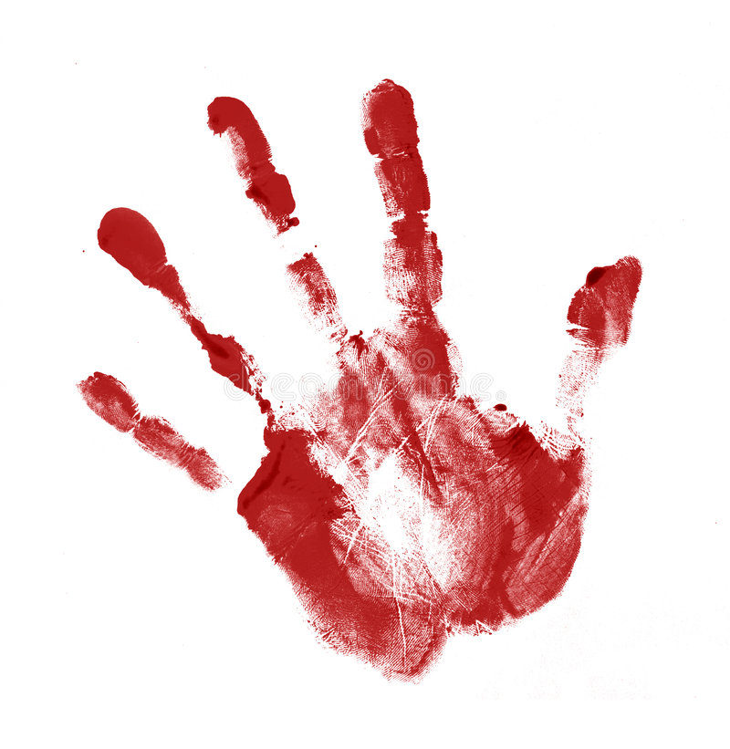 Handprint rouge illustration libre de droits