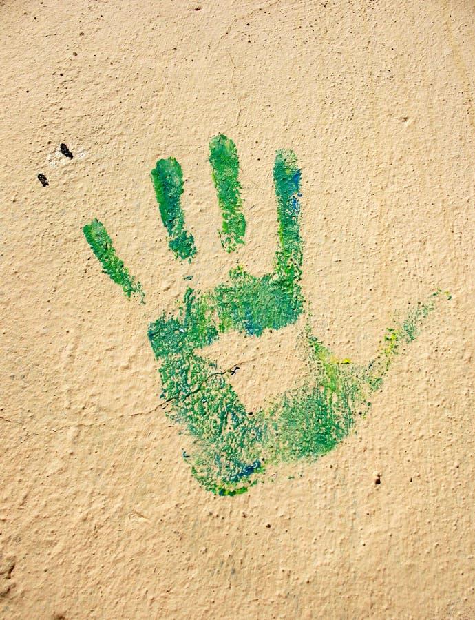 Handprint on the wall stock photo. Image of fingerprint - 24613956