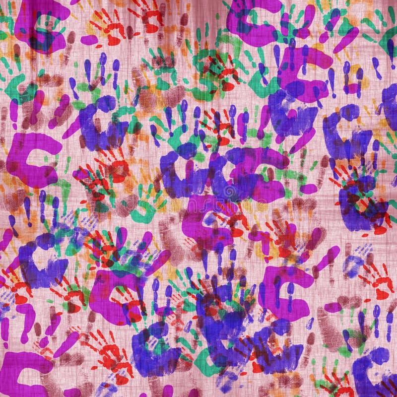Handprints. fotografia stock
