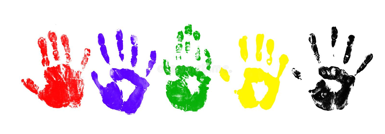 Download Handprints stock image. Image of dirty, colored, individuality - 25519861