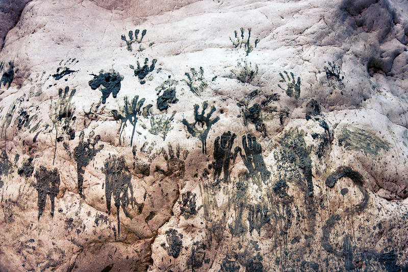 Handprints royalty free stock photography