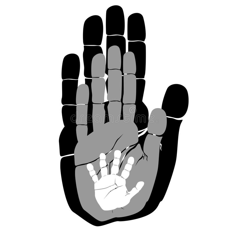 Handprints ilustración del vector
