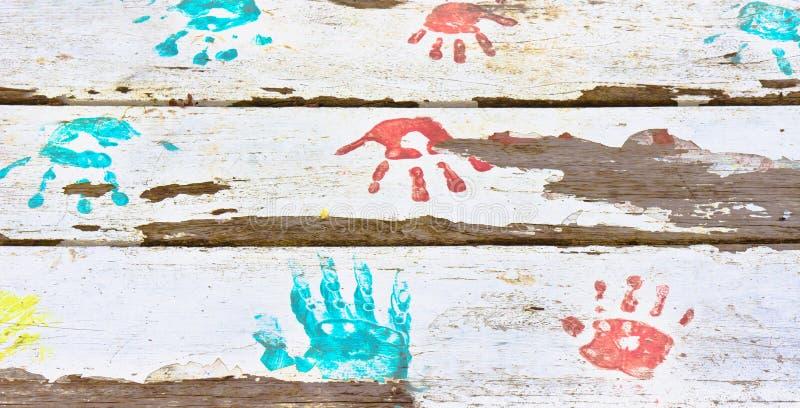 Handprints 免版税图库摄影