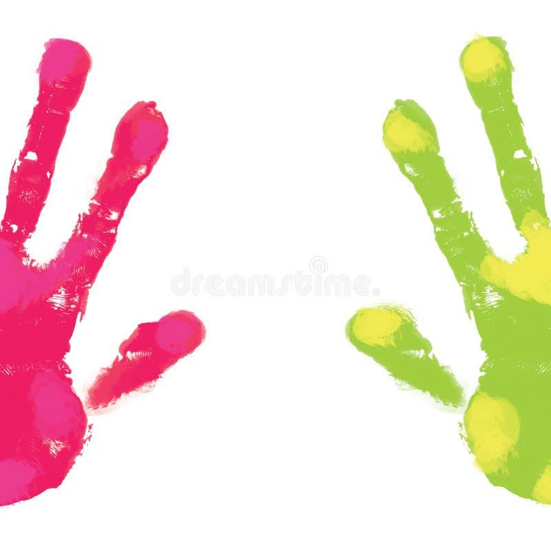 handprints 库存例证