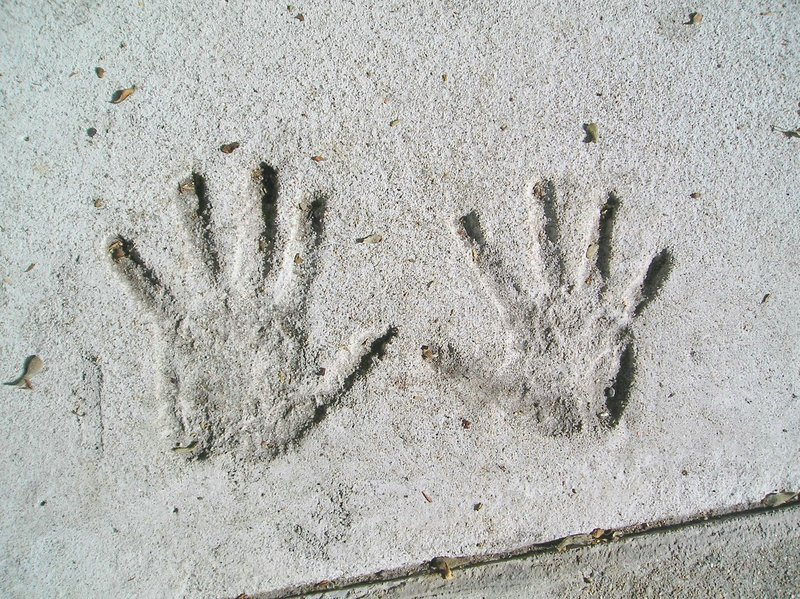 Download Handprints in Cement stock image. Image of play, stone - 183641