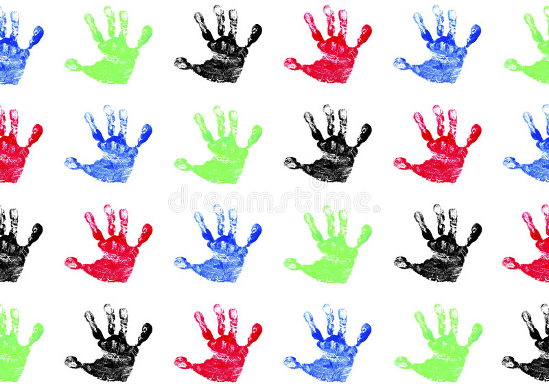 Handprints des enfants photos libres de droits