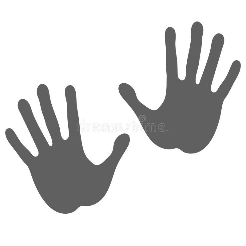 Handprints grafiki ikona ilustracja wektor