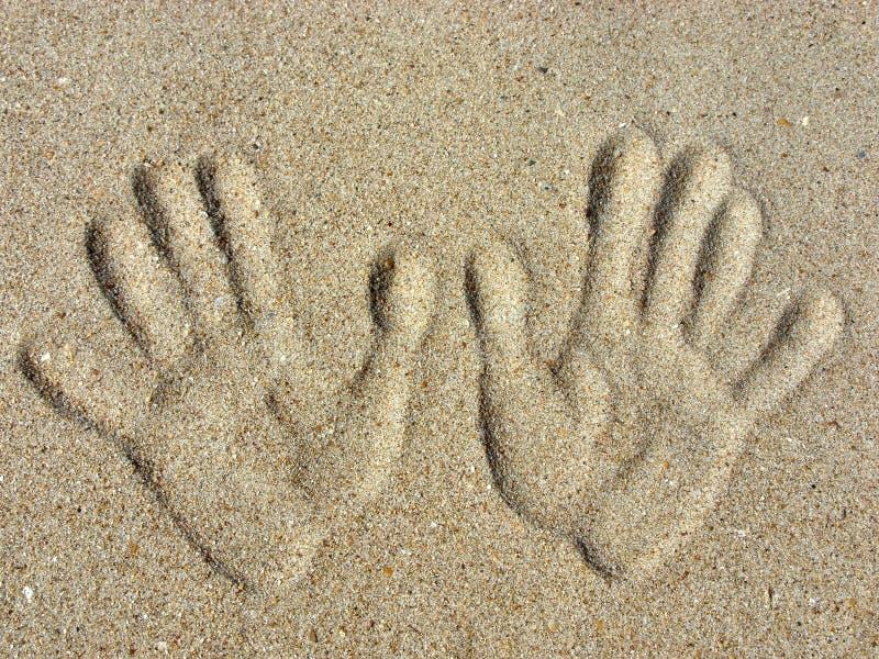 handprints piasek zdjęcia royalty free