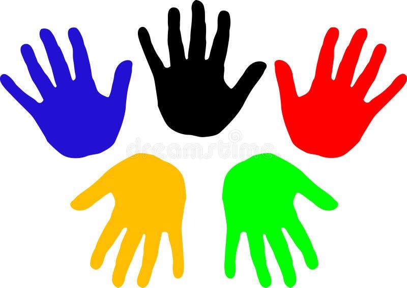 Handprints (vektor) stock illustrationer