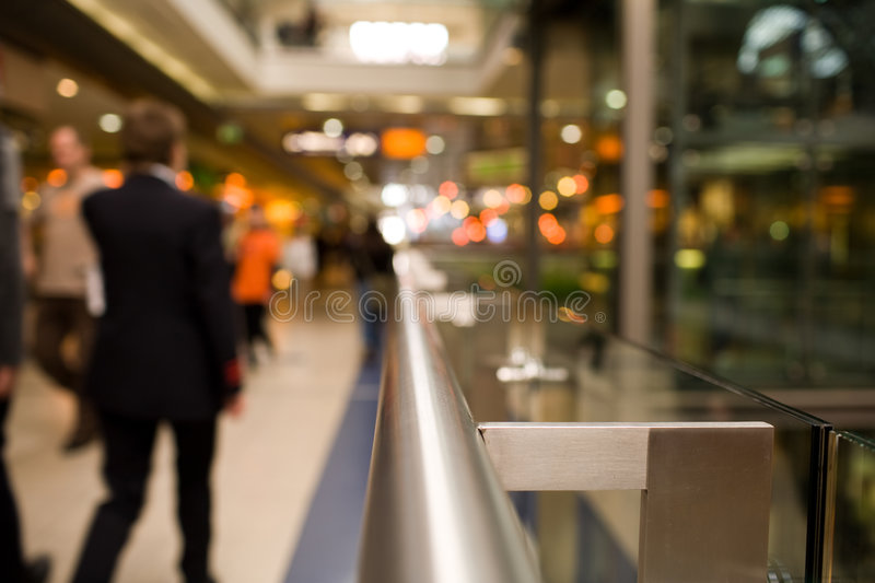 Download Handrail in Shopping Mall stock image. Image of mall, economy - 2837595