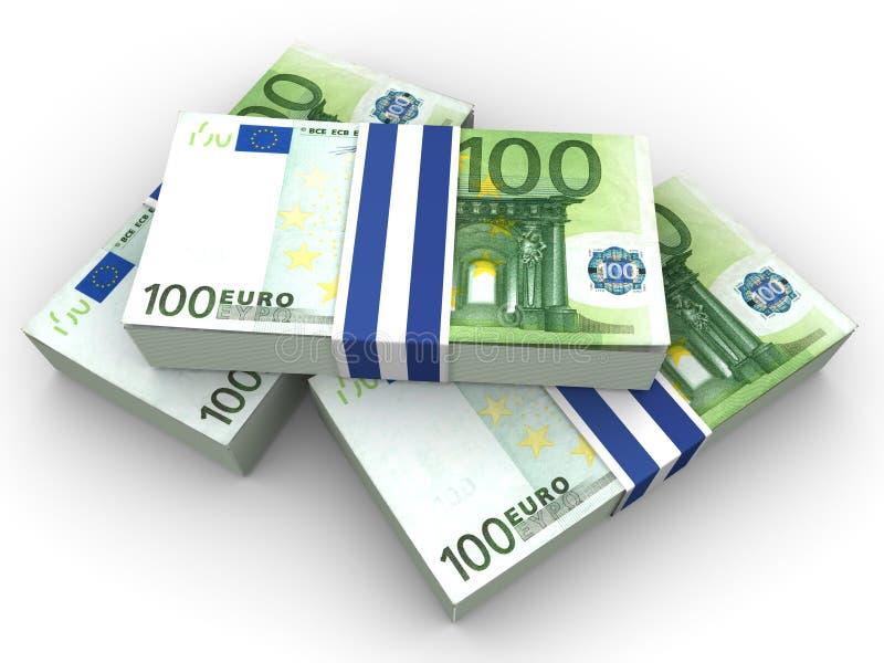 handred的欧元 向量例证