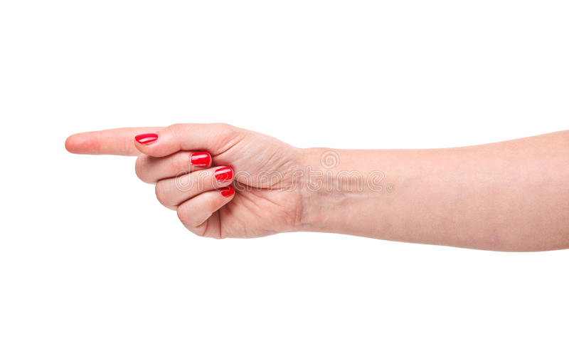 Handrichtung lizenzfreie stockbilder