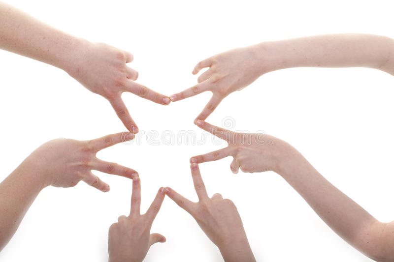 Hands. Of children and adults royalty free stock images