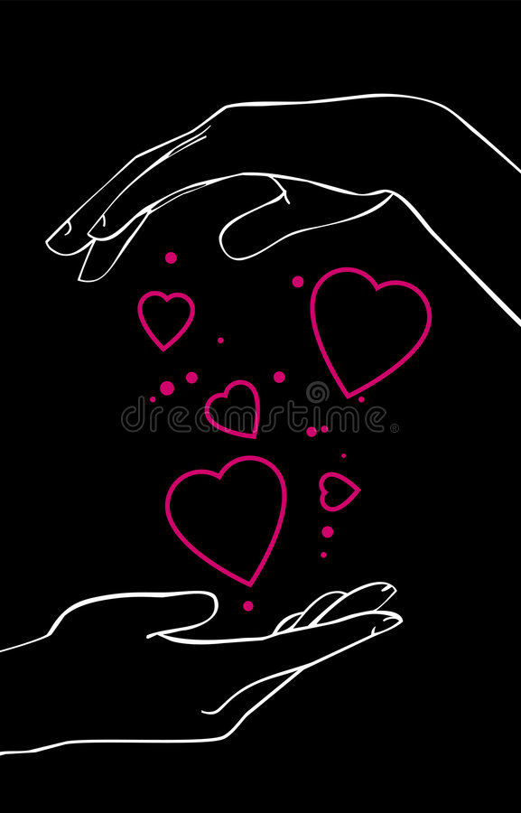 Download Hands stock vector. Image of hands, painting, modern, light - 3672058