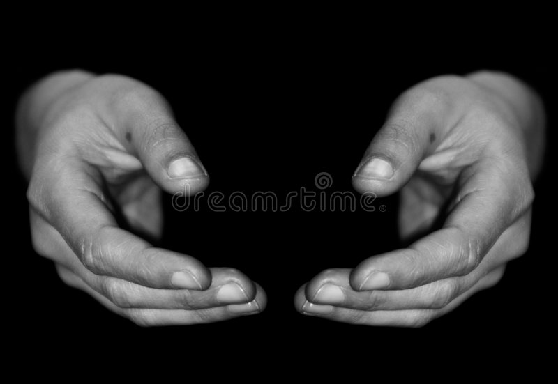 Hands. From a woman royalty free stock photos