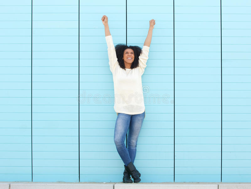 Hands in the air royalty free stock image
