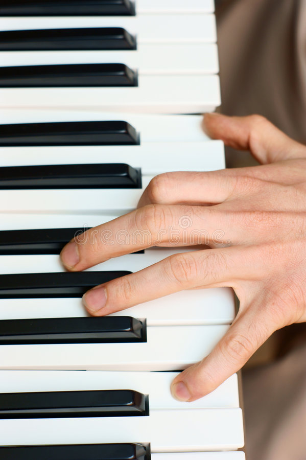 Free Hands And Piano Player Stock Image - 5681801