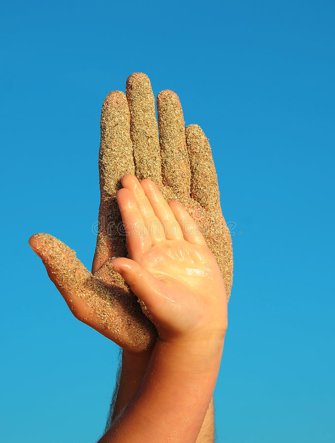 Free Hands And Sky Stock Photography - 75979362