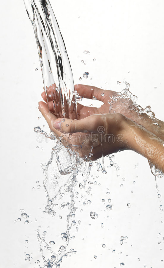 Free Hands And Stream Of Water. Stock Images - 7303714