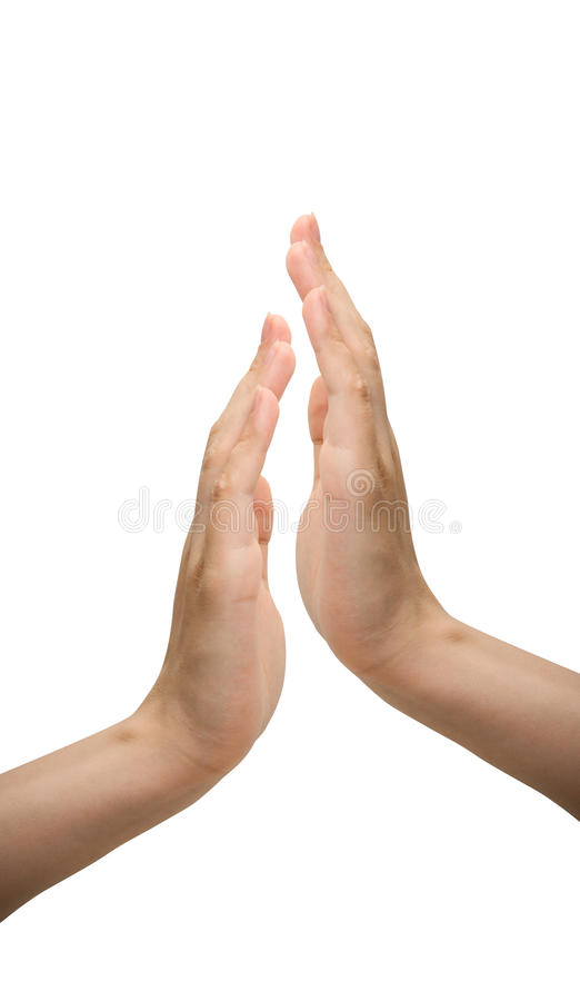 Hands applauding stock photo