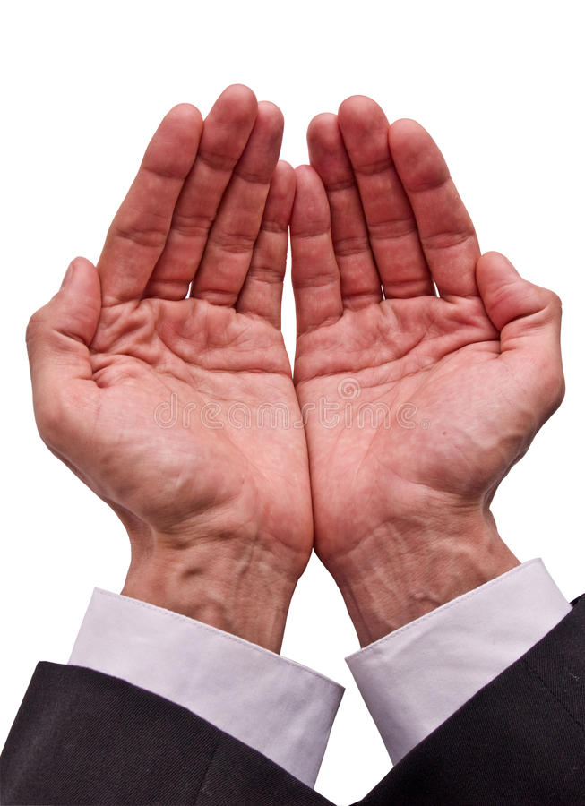 Hands asking royalty free stock photo