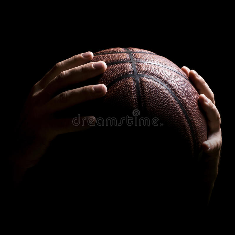 Hands Athlete Basketball Ball stock images