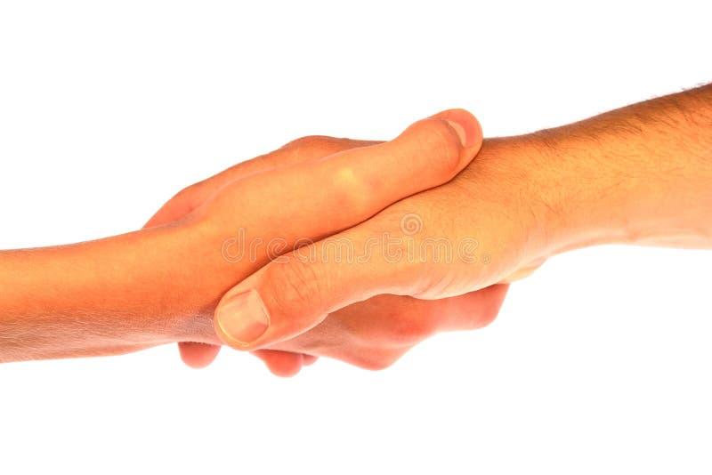 hands att uppröra för handskakning arkivfoton